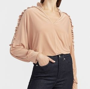 Express Ruffle Sleeve Top
